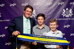 2017RAS Beef Challenge Awards  068RAS Domestic Team Res Champion Will  Lachie Mayne Texas Angus Ben Hiscox Bob Jamieson Agencies